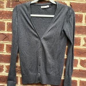 Old Navy Dark Heather Grey V-Neck Cardigan